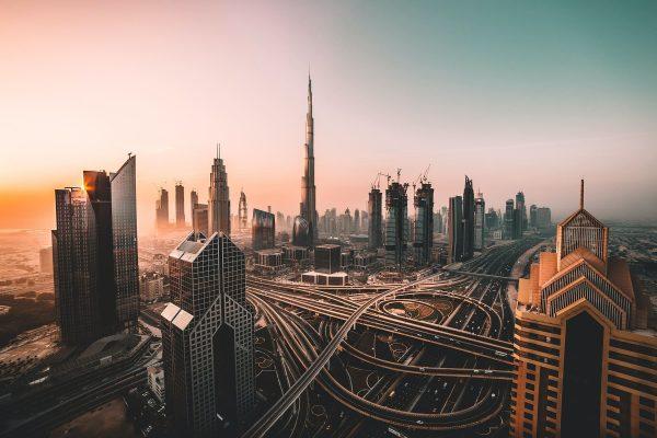 Photo de Dubaï le soir