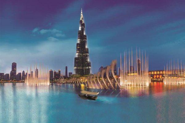 Spectacle des fontaines de Dubaï