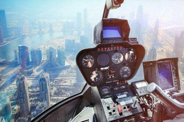 Tour en hélicoptère au dessus de Dubaï