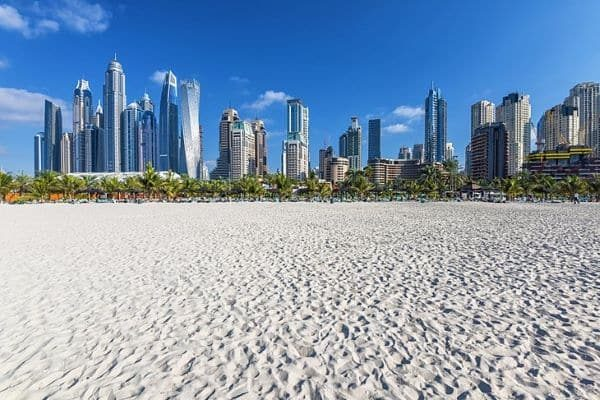 Plage JBR Open Beach à Dubaï