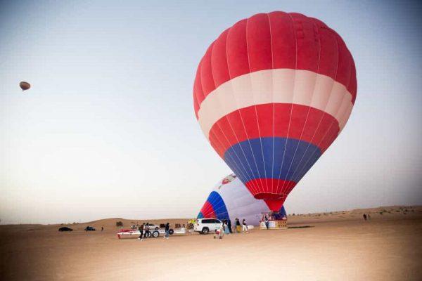 Vol en montgolfière au dessus de Dubaï